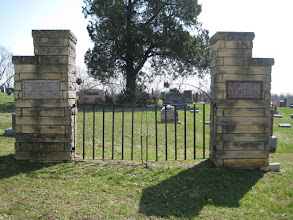Photo: Entrance to the Webb Cemetery. At mid 20th-century the cemetery was fenced.