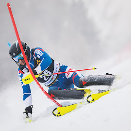 Aleksandr Khoroshilov  - Russia by Urban Meglič - Sports & Fitness Snow Sports ( ski, pixoto, sports, award, sport, photo, alpine, tekma, pokal vitranc, fis, challenge, slalom, 57. pokal vitranc, 50th anniversary of the first world cup race in kranjska gora, winter sports, man, top )