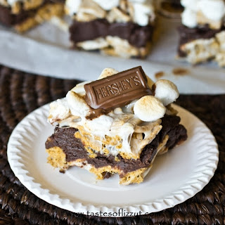 S'more Brownie Batter Bars