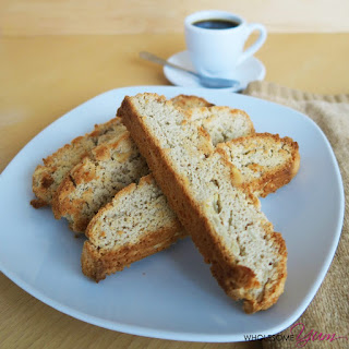 Triple Almond Biscotti (Paleo, Low Carb)