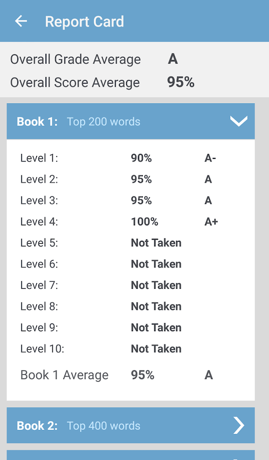 English Vocabulary- screenshot