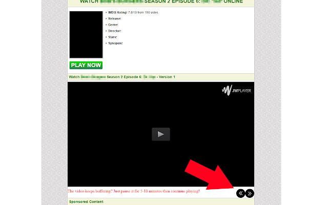 Putlocker Video Navigation Buttons