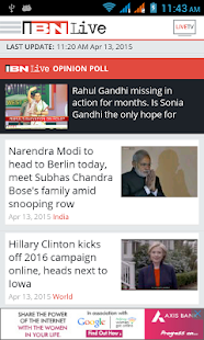IBNLive for Android - screenshot thumbnail