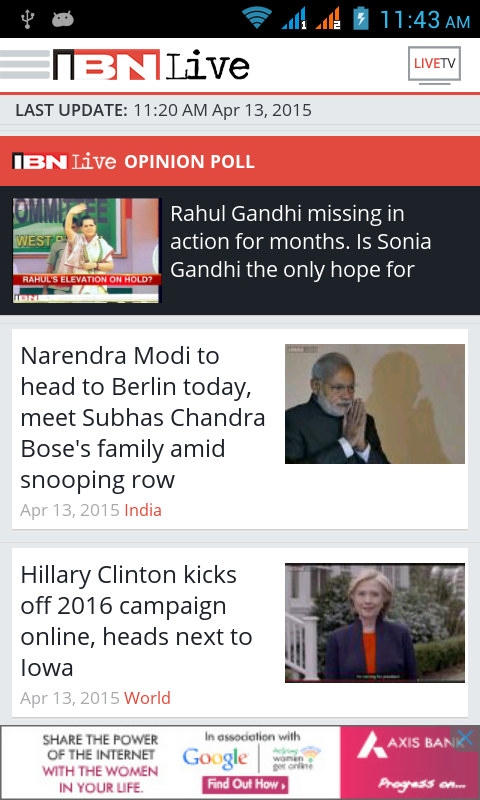 IBNLive for Android- screenshot