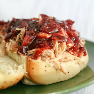 Slow Cooker Cranberry Chicken Sandwiches.