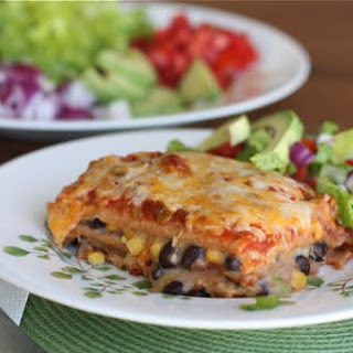Bush's Two-Bean Vegetarian Mexican Lasagna.
