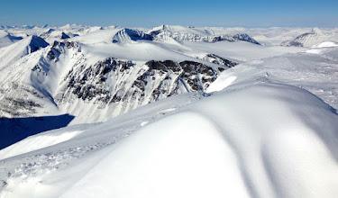 Photo: View from Kaskasatjåkka (2076 m), the 4th highest mountain in Sweden