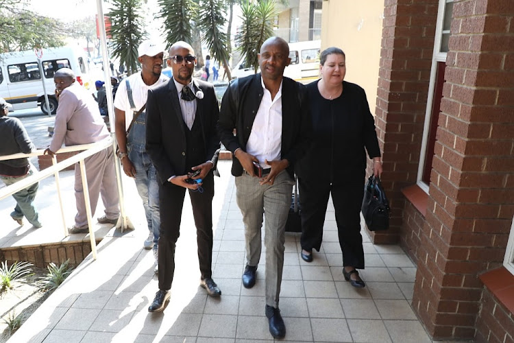 Arthur Mafokate outside court.