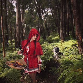Little Red Riding Hood by Tito Adinoegroho - People Portraits of Women
