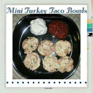 Mini Turkey Taco Bowls