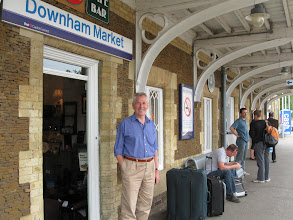 Photo: Jim sees Barbara off to London at the train station in Downham Market.