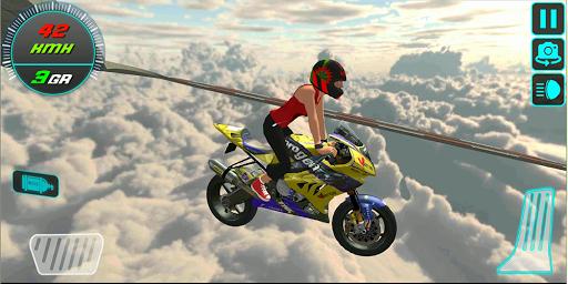 Jeux de cascades en motorcycle - Crazy Bike Stunts  captures d'écran 1