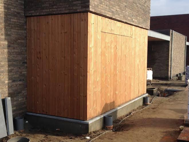 Houten gevelbekleding - Project van 13 woningen