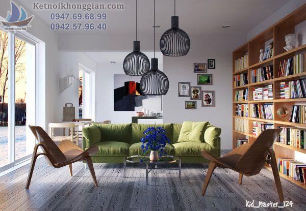 Thiết kế phòng khách với ý tưởng độc đáo