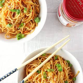 Spicy Kimchi Sesame Noodles.