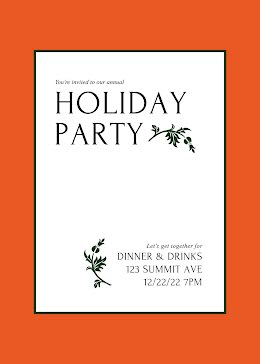 Our Annual Holiday Party - Christmas Card item