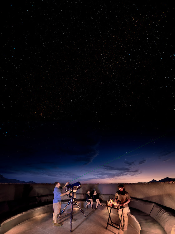 Stargazing at &Beyond Sossusvlei Desert Lodge.