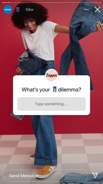 instagram question sticker zappos