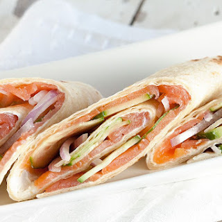 Smoked Salmon Wraps.