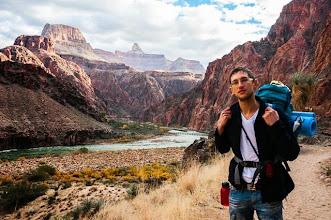 Photo: Daniele at the bottom of the Grand Canyon Nation Park, Arizona, USA