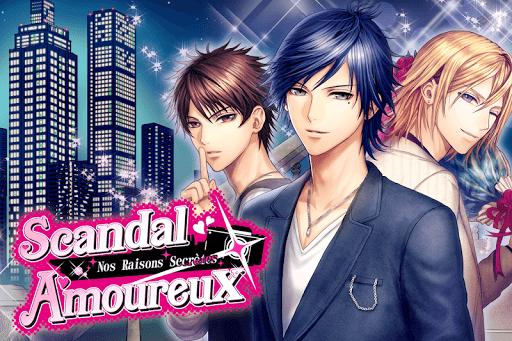 Code Triche Scandal Amoureux: Visual novel games Français apk mod screenshots 3