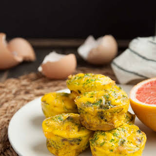 Egg Muffins with Broccoli and Cheddar.
