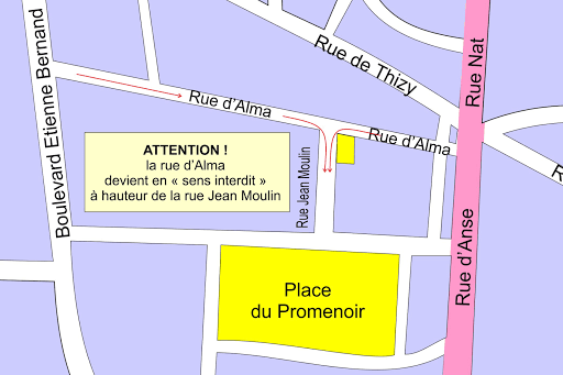 comptoir de l'or caladois plan d'accès 2
