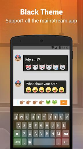 Phone Black Keyboard screenshot 3