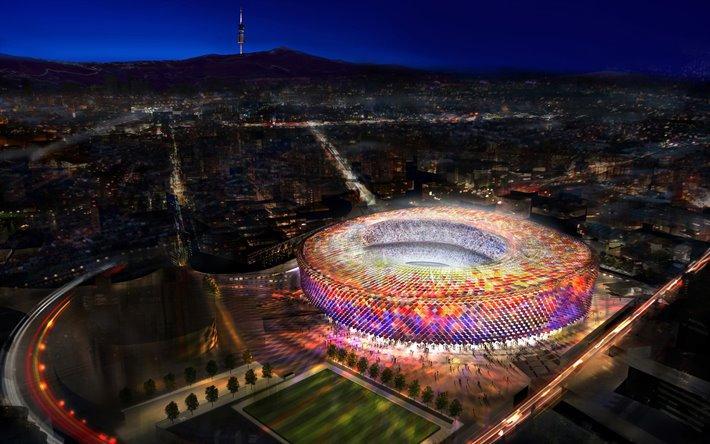 Một buổi trình diễn ánh sáng tại sân vận động