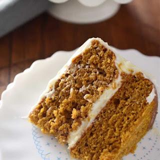 Pumpkin Cake with Amaretto Cream Cheese Frosting