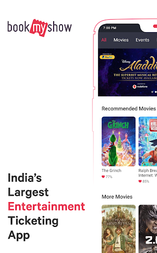 BookMyShow - Movies, Events & Sports Match Tickets  screenshots 1