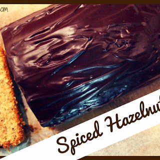 Spiced Hazelnut Loaf Cake With Chocolate Fudge Frosting.