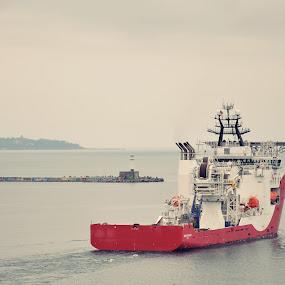 Offshore Supply Vessel  by Stoyan Baev - Transportation Boats ( port, ship, navigate, lighthouse, horizon, sea )