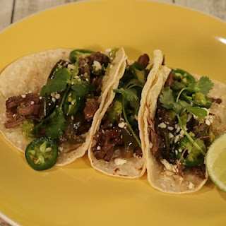 Braised Beef Tacos with Poblanos