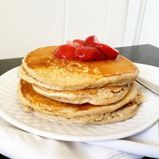 Fluffy Whole Wheat Pancakes.