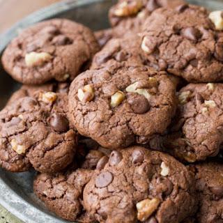 Chocolate Chocolate-Chip Walnut Cookies