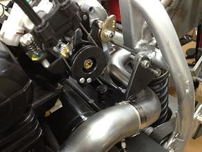 Photo: Exhaust routing to original muffler.