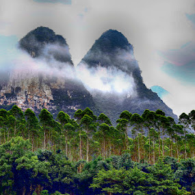 Clouds by Xiufen Gu - Landscapes Mountains & Hills ( clouds, karst, guilin,  )