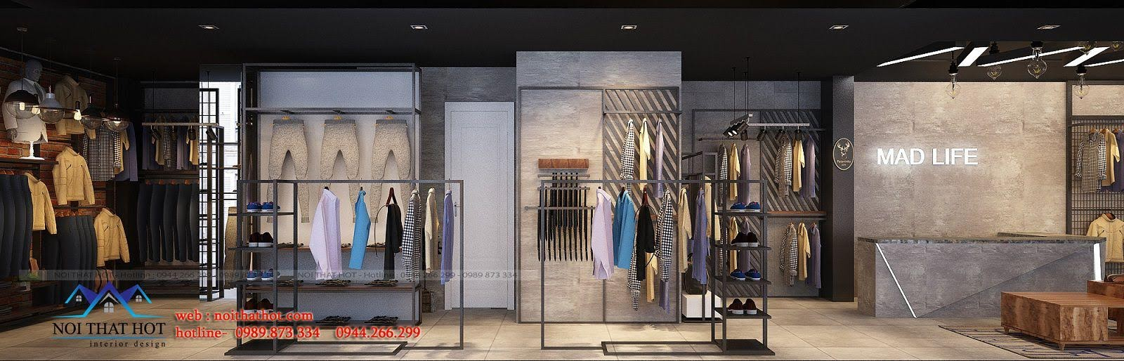 thiết kế shop thời trang nam H2T 8