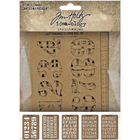 Tim Holtz Idea-Ology Stencil Cards 5/Pkg