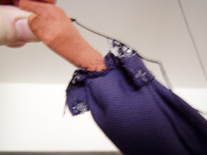 Photo: Each cuff has a snap, so the hand can go through but it is tight around the wrist.