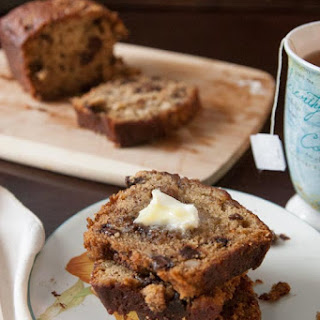 Super-Moist Quick and Easy Banana Nut Chocolate Chip Bread.