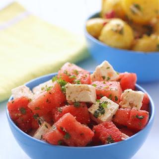 Watermelon Feta & Mint Salad.