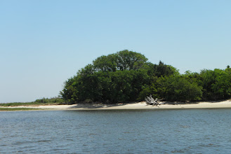 Photo: A sandy island instead of marsh.
