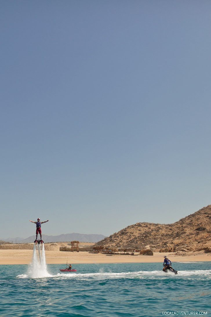 Flyboard at Santa Maria Bay Cabo Mexico (21 Things to Do in Cabo).