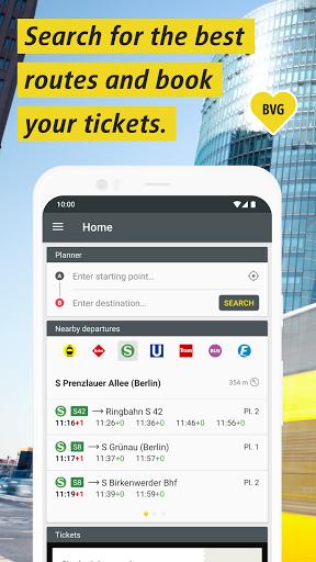 BVG Fahrinfo: Bus, Train, Subway & City Map Berlin  screenshots 1