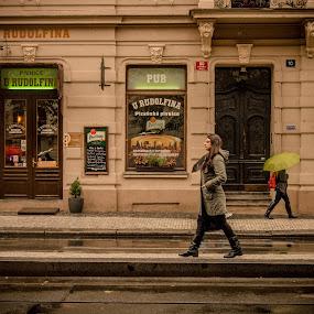 Walk by Jo Polyxromos - People Street & Candids ( walking, model, fashion, woman, street, fashion photography, people, street photography )