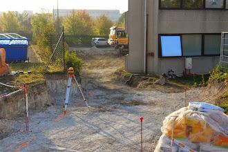 Photo: Futur passage des véhicules Hexanet vers le datacenter (Visite de chantier 2 Oct. 2014)
