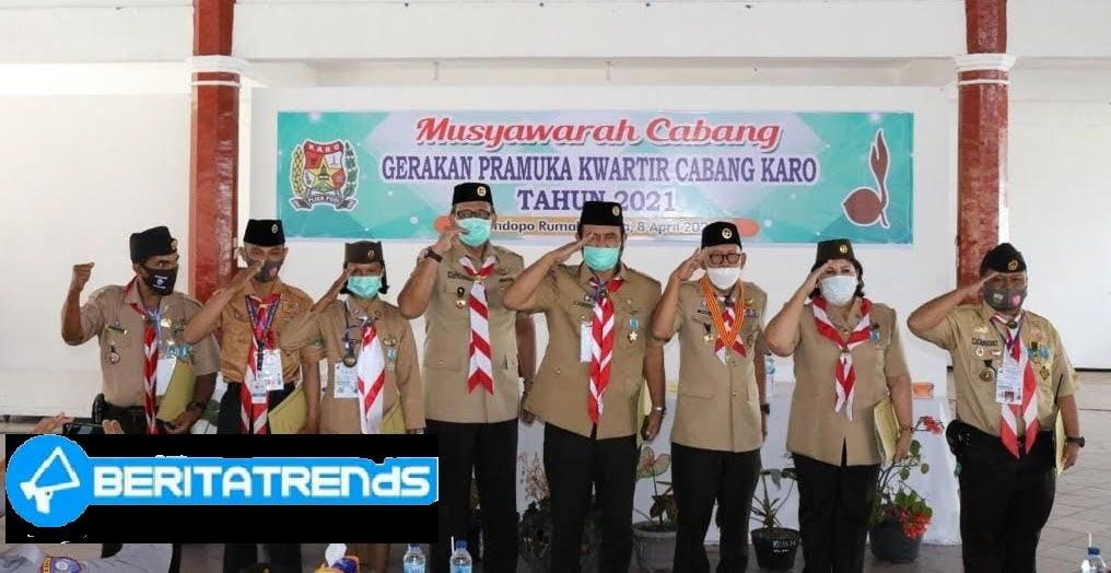 Wakil Bupati Karo Buka Muscab Gerakan Pramuka Kwartir Cabang Kab.Karo Tahun 2021