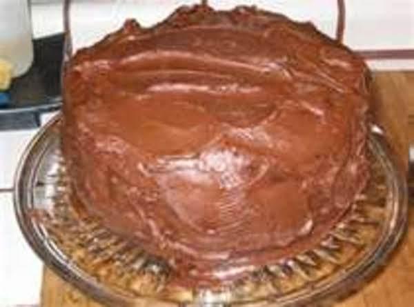 Mom's Chocolate Scratch Mocha Layered Cake